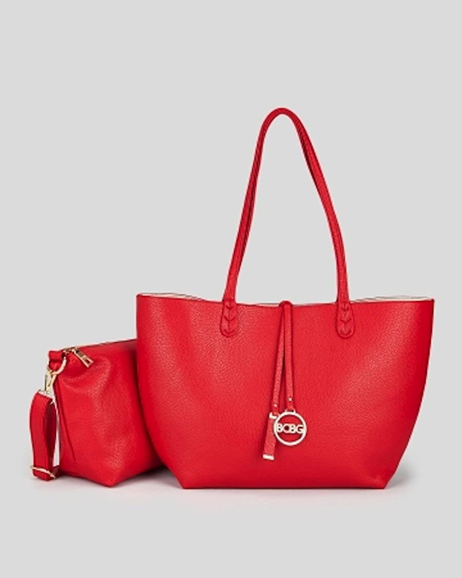 1fa42a238173 Amazon.com: Bcbg Reversible Tote with Matching Convertible Bag Red ...