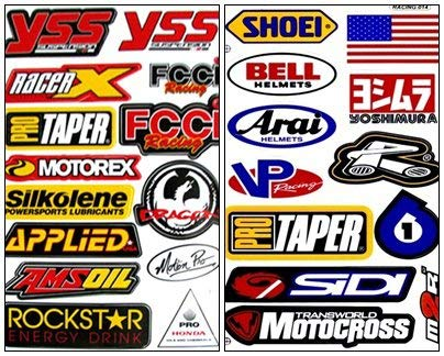 Racing Gear Decal Sticker Motocross Dirt Bike ATV 2 Sheets (Suzuki Stickers)