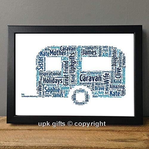 UPK-Gifts-Personalised-Caravan-Keepsake-Print-Gift-Word-Art-Best-Friend-Mum-Dad-Holidays-Friends-Birthday-Daughter-Son-Family