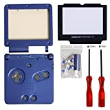 Timorn Full Parts Housing Shell Pack Replacement for Nintendo GBA SP Gameboy Advance SP (Blue Pack)