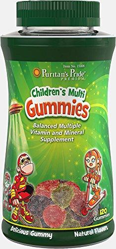 Puritan's Pride Children's Multivitamins & Mineral Gummies-120 Gummies (Puritans Chewable Pride)