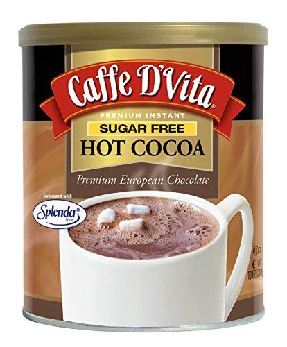 - Caffe D'Vita Sugar Free Hot Cocoa, 10 Ounce Can