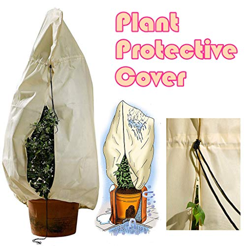 - Plant Covers for Winter Cold Weather Cuekondy Outdoor Yard Garden Tree Shrub Warm Cover Protecting Bag Frost Freeze Animal Protection Anti-UV (Yellow -180x120cm)