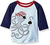 : Mud Pie Toddler Boys' Raglan T-Shirt, Pirate Octopus, 2T/3T