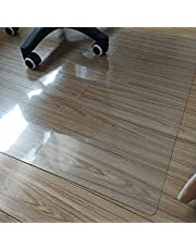 LJFYXZ Non-Slip Protector Mat Smooth Rolling Chair Mat Thick PVC 1.5mm Clear Hardwood Floor Mat, Wear Resistant Desk Mat Protection Rug for Low Pile Carpets,Plant Pot Base