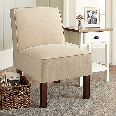 Chatham House Sutton Slipper Chair in Wheat (Pottery Barn Chatham Table)