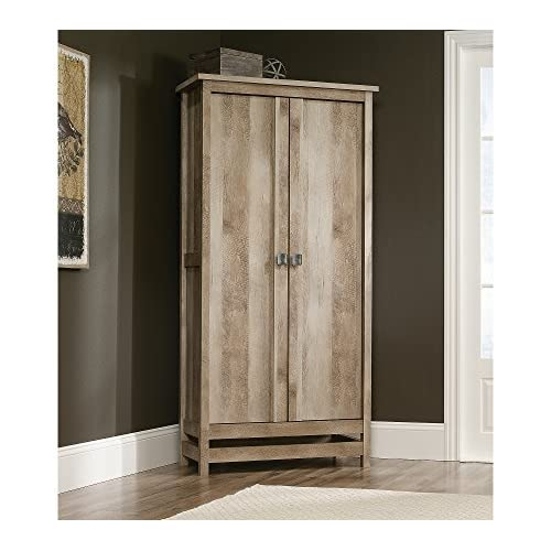 Sauder Cannery Bridge Storage Cabinet Lintel Oak