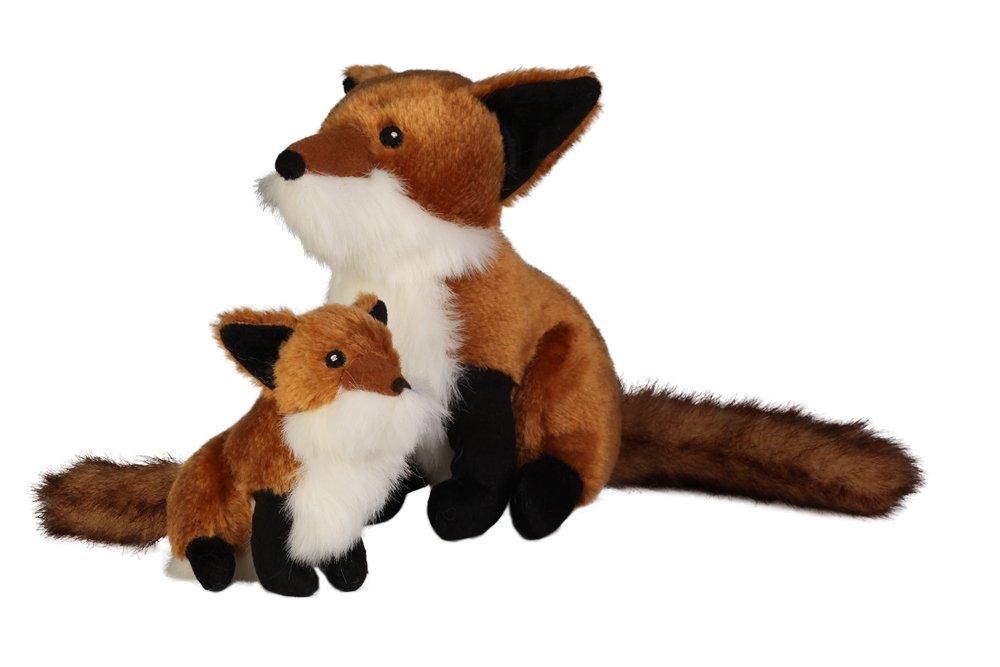 goDog Wildlife Fox Large Toy with Chew Guard