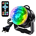 LED Party Light RGB Disco Ball Strobe Light Projector DJ Lighting Stage Light Lamp with Remote Control, Emotionlite Sound Activated Par Light 3 Modes Dance Parties Xmas Festival Birthday Wedding