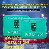 Rsim 12 Unlock Card Chip R sim Unlock Compatible with iPhone Xs/X/8/7/6/6s/5/G iOS 12.3 .1 Auto Unlock sim R-SIM12 R-sim Card Tool IOS12.3 Rsim 12+ Plus
