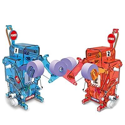 Poraxy Boxing Robot Kit,2 DIY Boxing Fight Robot Battle Toys Assembly STEM Kit,Educational Scientific Robot Building Kit Gift for Children Kids
