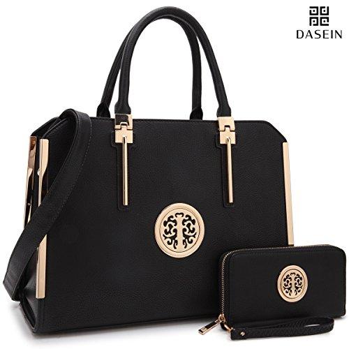 a3d0cd2add1e Dasein Frame Tote Top Handle Handbags Designer Satchel Leather ...