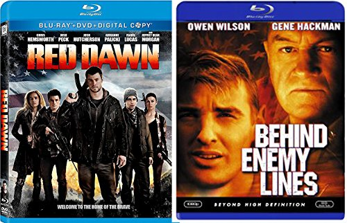 Red Dawn Double Feature + Behind Enemy Lines Blu Ray 2 Pack War Movie Action Set