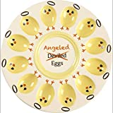 Precious Moments Angeled Eggs Round 10-Inch Ceramic Platter 189015