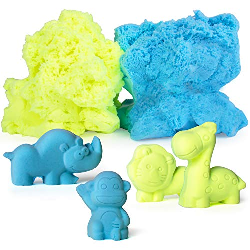 USA Toyz Kids Modeling Clay Sensory Sand - Fluffy Molding Modeling Clay for Kids with 10 Animal Sand Molds