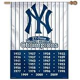 WinCraft MLB New York Yankees 77371091 Vertical Flag, Small, Black