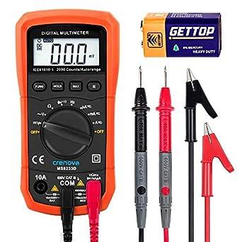 Multímetro digital, Crenova MS8233D Auto-Ranging Digital multímetros medidor electrónico instrumento detector de voltaje