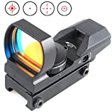 Ledsnipertactical-1x22x33-Holographic-4-Reticle-Reflex-Red-and-Green-Scope-20mm-Rail12-month-warranty