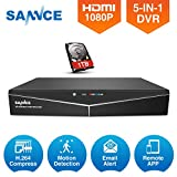 Best Sannce-surveillance-systems - SANNCE 1080N AHD Security DVR Recorder with 1TB Review