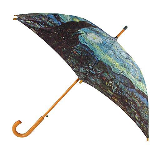 CTM Starry Night Print Hook Stick Umbrella, Starry Night