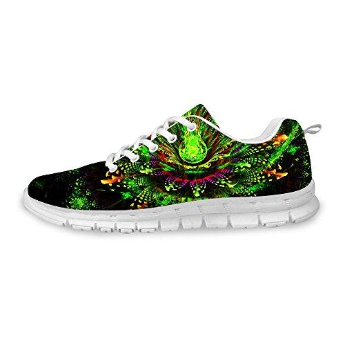 För U Designar Mode Man & Kvinna Andas Blommor Gymnastikskor Löparskor Grön A