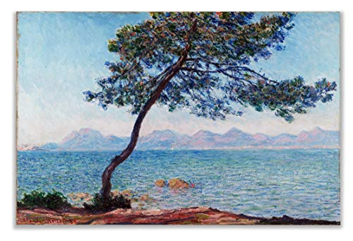 Monet Wall Art Collection The The Esterel Mountains, 1888 Canvas Prints Wrapped Gallery Wall Art | Stretched and Framed Ready to Hang - 1888 Canvas Stretched