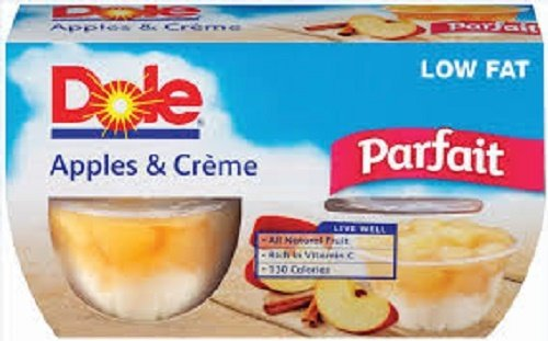 Dole, Parfait Cups, Apple Creme, 4 Count, 17.2oz Package (Package of 2)