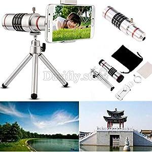 GOODKSSOP 18X Profession Aluminum Zoom Optical Telescope Camera Telephoto Lens + Clip + Tripod Kit Universal For iPhone Samsung HTC Most Smartphone Mobile Phone