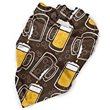 Pet Scarf Dog Bandana Bibs Triangle Head Scarfs Beer Drip Circle Accessories for Cats Baby Puppy