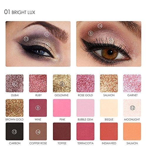 Focallure 18 Colors Pearlized Color Eyeshadow Powder Eye Shadow Palette Set Cosmetic Makeup by DMZing (