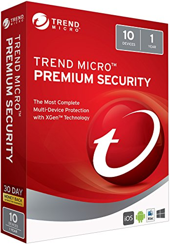 Trend Micro Max Premium Security 2018 10 User [Key Card]