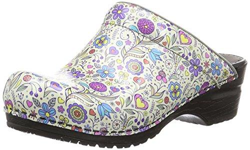Multicolour Damen Mehrfarbig Clogs Sanita Open Isalena PXRqnwXxOC