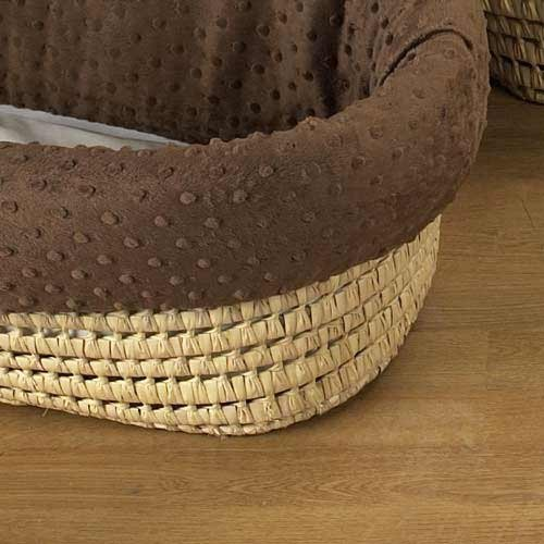 BabyDoll Heavenly Soft Moses Basket, Ecru