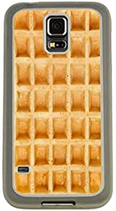 Rikki KnightTM Gold Brown Waffle, Sweet Waffle Design Samsung? Galaxy S5 Case Cover (Clear with Bumper Protection) for Samsung Galaxy S5