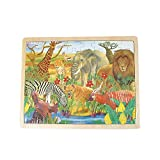 48 Pc Safari Wood Puzzle (With Sticky Notes)