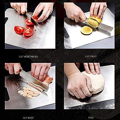 Amazon.com: Baskciry 304 - Tabla de cortar de acero ...