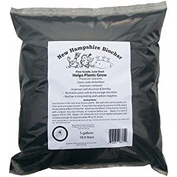 New Hampshire Biochar in a 5 gallon bag from the Charcola Group