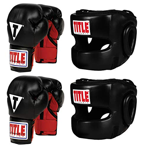 Gloves Headgear Boxing (Title Youth Boxing Set)