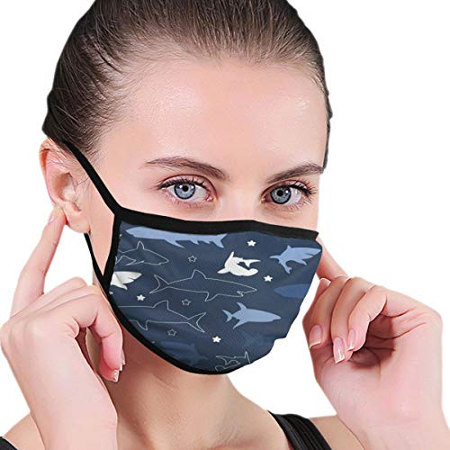 Funny Mouth Cover Dustproof Washable Reusable Vintage Retro Shark Amazing Respirator Protective Safety Warm Windproof for Women Men