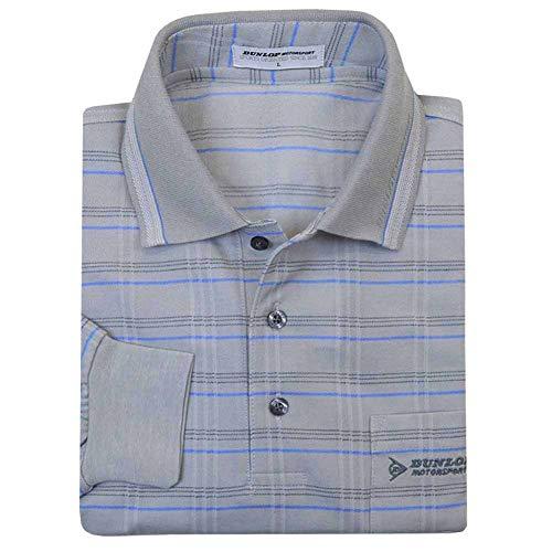 ポロシャツ メンズ ブランド 長袖 DUNLOP(ダンロップ) 「ギフトBOX入り」 格子柄ゴルフポロ M L LL fo-184d255h