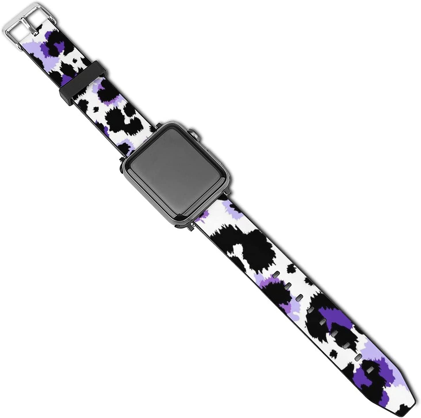 NiYoung Compatible with Apple Watch Band 38mm 40mm 42mm 44mm Series 5 Series 4 Series 3 Series 2 Series 1 Ultraviolet Violet Leopard Pattern iWatch Bands Womens Mens