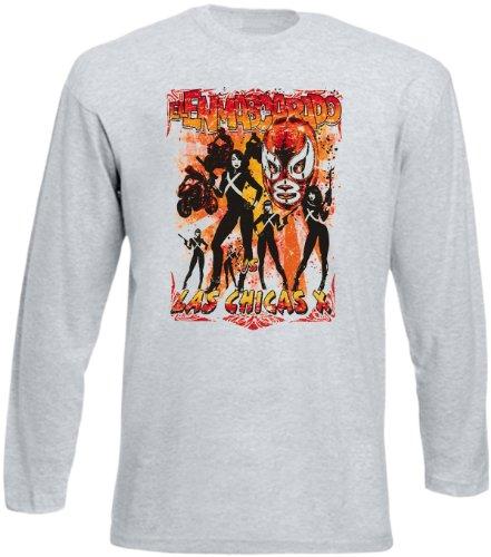 Langarm T-Shirt Las chicas X Größe S Farbe grau