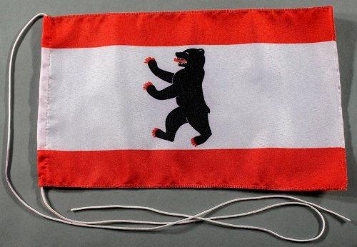 Berlin 15x25 cm Tischflagge in Profi - Qualität Tischfahne Autoflagge Bootsflagge Motorradflagge Mopedflagge