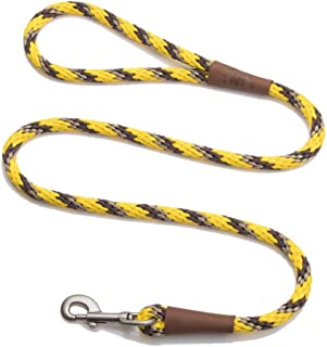 product image for Mendota Pet Snap Leash - British-Style Braided Dog Lead, Made in The USA - Harvest, 3/8 in x 6 ft - for Small/Medium Breeds