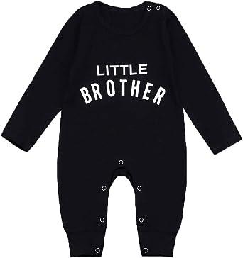 Newborn Infant Baby Boys Little Brother Romper Jumpsuit Bodysuit Outfits Clothes