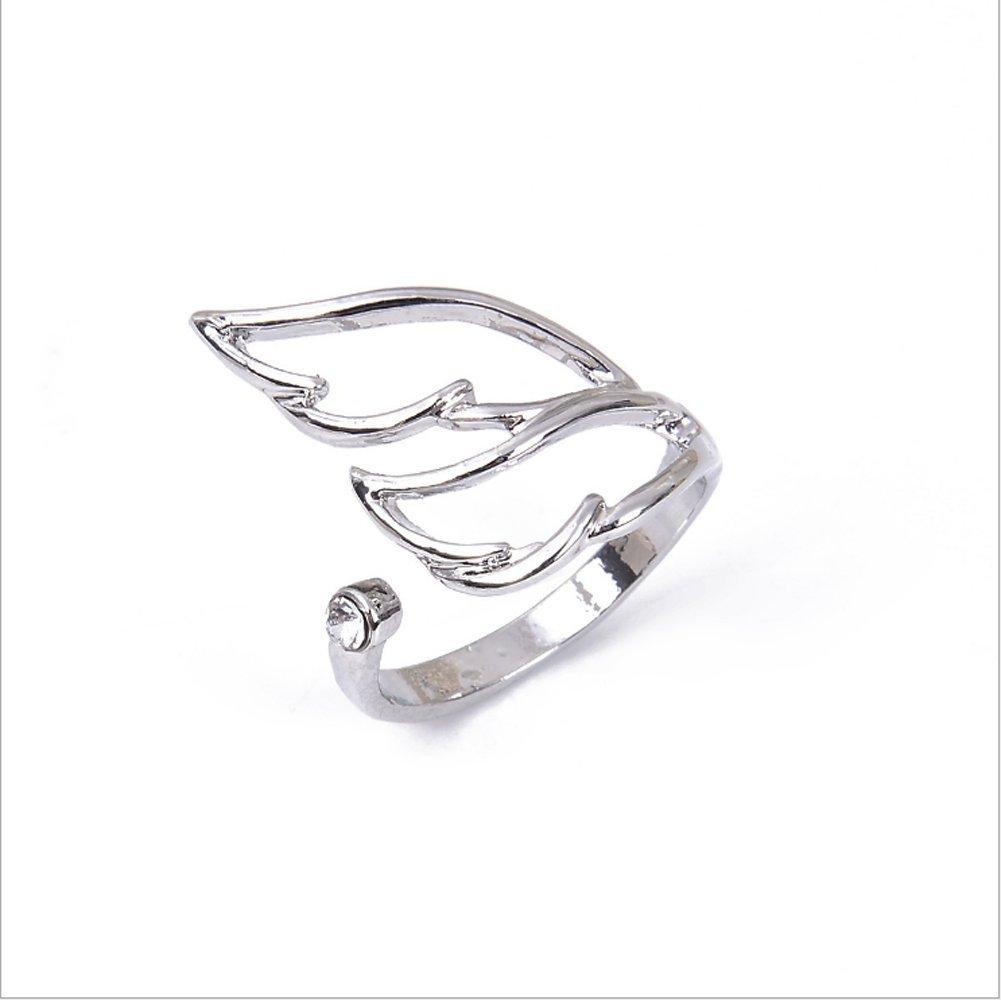 cosanter anello da donna in argento con anello ali degli Angeli Ring, regolabile