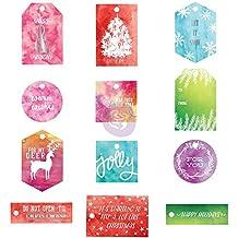 Prima Marketing watercolor Resist Tags - Sweet Peppermint
