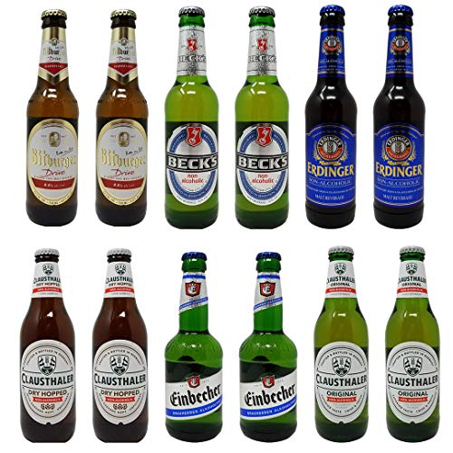 Non-Alcoholic Beer Premium Best Sellers Variety Pack, 11.2-12 fl oz (12 Glass Bottles)