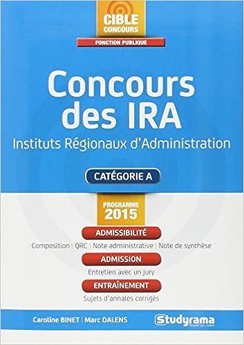 Read Online Concours des Ira - Programme 2015 epub pdf