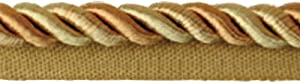 Fenghuangwu 13.74 Yard Handmade Cord Trim,1Cm/0.39Inch Diameter Twisted Trim Cord Rope for DIY,Home Décor,Upholstery,Curtain Tieback-Gold